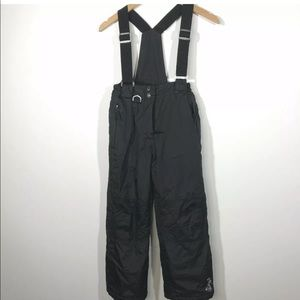 32 Degrees Medium 10/12 Black Snow Overalls